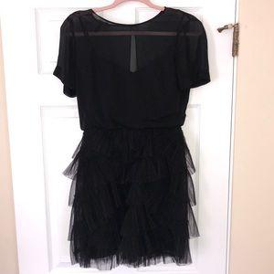 BCBG Max Azria black tulle dress